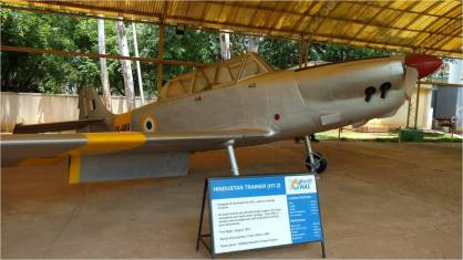 An exhibit at the HAL Aerospace Museum