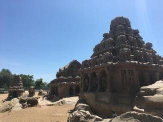 Another view of the Panch Rathas