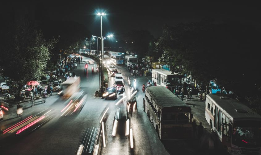 Image of Indian roads at night