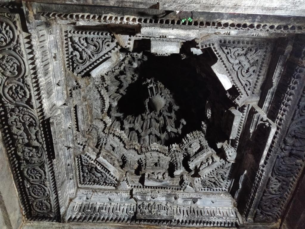 Intricately carved ceiling